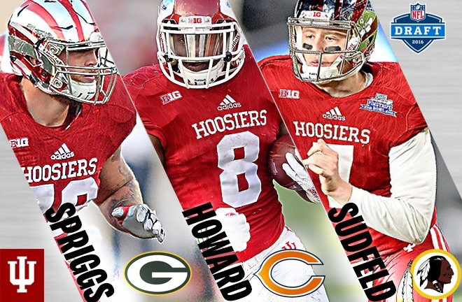Three Hoosiers were selected in the 2016 NFL Draft, the most since 2010. Image: IUHoosiers.com