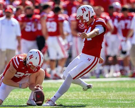 Nebraska's Drew Brown leads a very strong special teams unit.   (AP Photo/Nati Harnik)