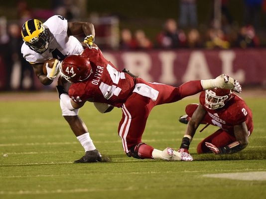 Marcus Oliver has become the face of the IU defense.  Image: IndyStar.com