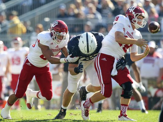 The Hoosier offense could never get going against the Nittany Lions with Sudfeld and Howard out. Image: Indystar.com