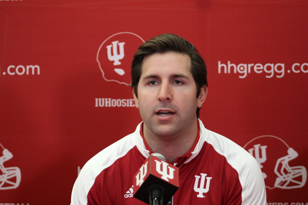 Nick Sheridan is excited to be coaching the quarterbacks in Bloomington Image: Sammy Jacobs HoosierHuddle.com