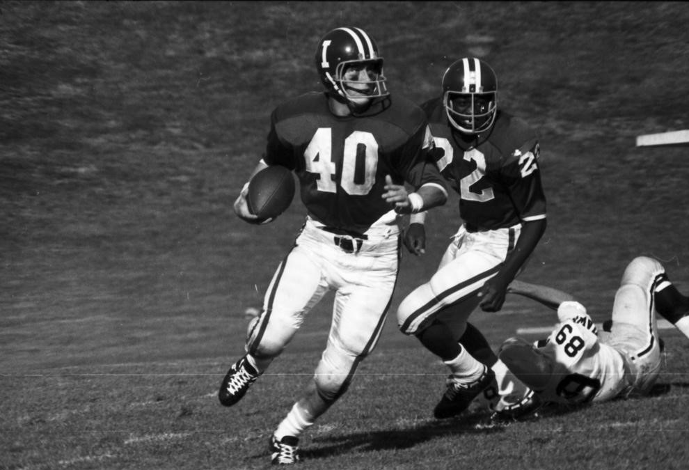 Jade Butcher (40) looking for yards after the catch.Image: IUArchives