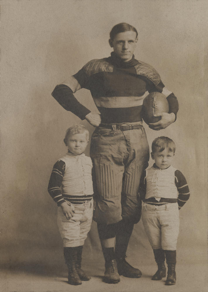 Indiana halfback Zora Clevenger circa 1901. Image: IU Archieves