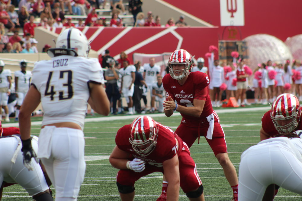 Peyton Ramsey leads the Hoosier offense against Charleston Southern  Image: Sammy Jacobs Hoosier Huddle