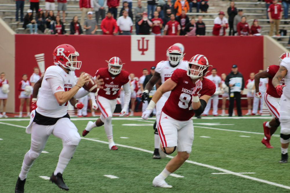 Jacob Robinson (91) will look to finish out his Hoosier career on a high note  Image: Sammy Jacobs Hoosier Huddle