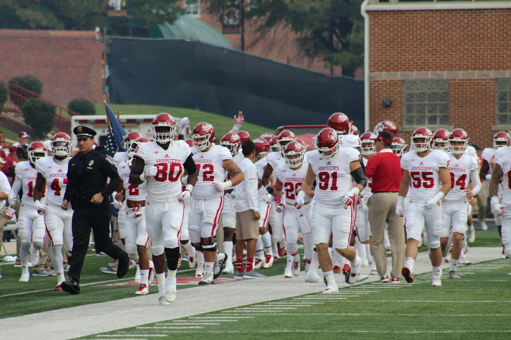 The Indiana Hoosiers will have to navigate a tough October in 2018  Image: Sarah Miller Hoosier Huddle