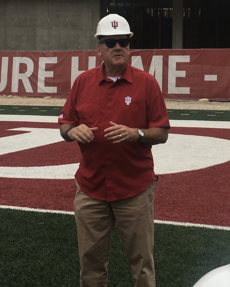 Indiana Athletic Director Fred Glass gives a tour of the SEZ in 2017.  Image: Alex Compton Hoosier Huddle