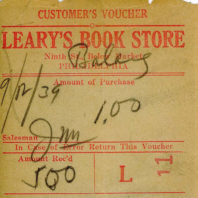 Paper Bookstore Receipt - Used Under Creative Commons License Courtesy of Lainey Powell on Flickr