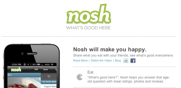 Nosh Website Header