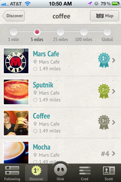 Oink Coffee Rankings within 5 Miles of My Location