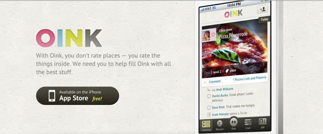 Oink Website