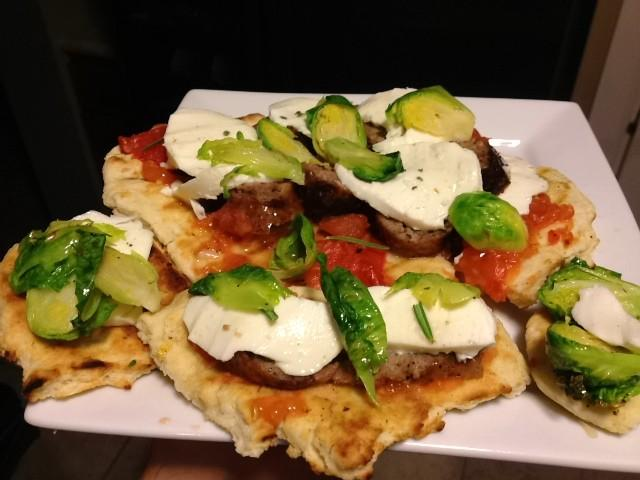 Scott Taylor (@scottsclone) – Grilled homegrown brats & Brussels pizza