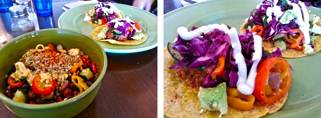 Mexican Bowl and Tacos at New World Cafe