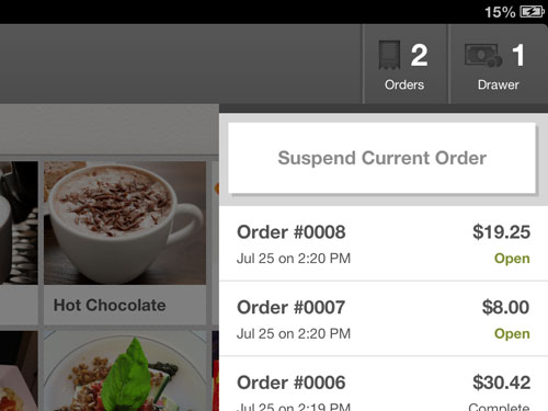 Suspend Orders and Start Customer Tabs For Your Bar or Restaurant POS Point of Sale Terminal