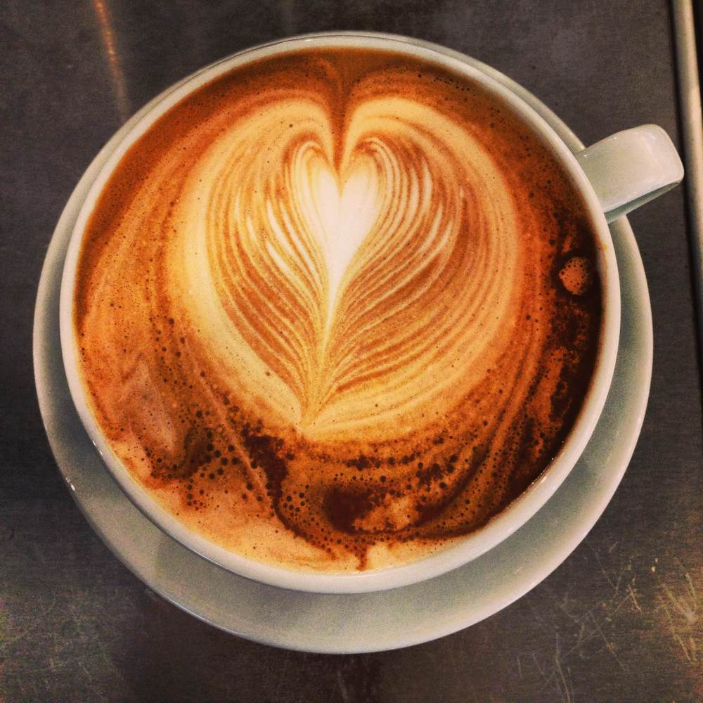 A recent coffee creation by Murphy at Mother Goose.