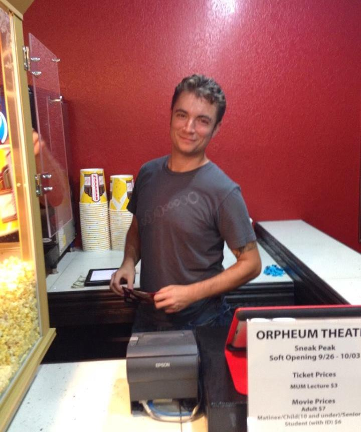 Owner Kristian Day serving up concessions.