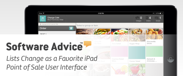 Software Advice Lists Change Favorite iPad Point of Sale