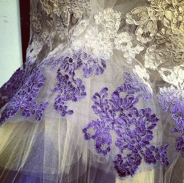 Hand dyed french lace, custom collection