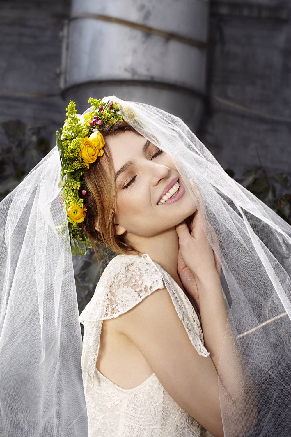 In bloom floral crown (seasonal) halo veil
