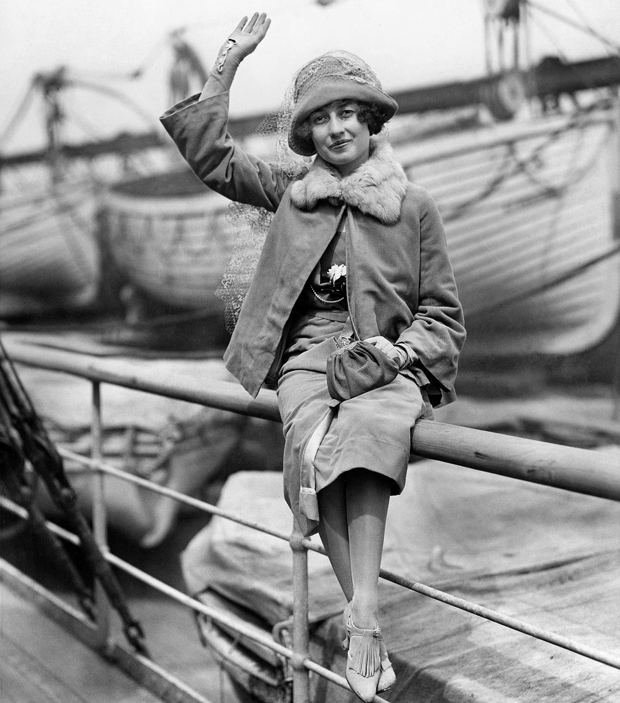 Mary Landon Baker in 1922, sailing to England to marry Allister McCormick. (She didn't.)  CREDIT THE NEW YORK TIMES
