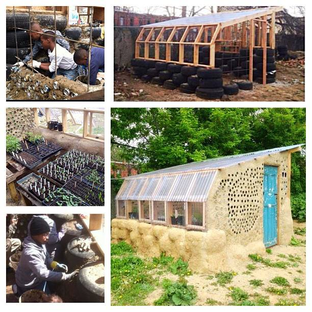 A greenhouse we built on a vacant lot in Philadelphia, in partnership with PhillyEarth. Kids learn how to build greenhouses and grow food. Ownership and hands on learning are invaluable.