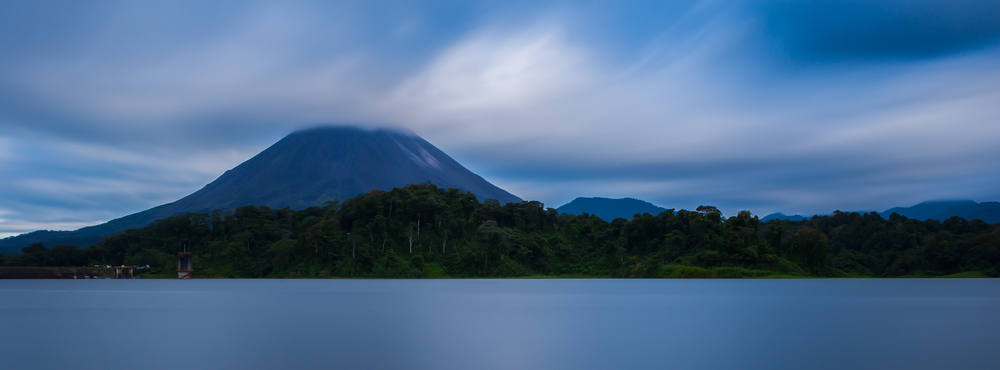 Lake Arenal- I used a Lee Big Stopper to create a long exposure during the day. This creates the glassy water effect and blurs the motion of the clouds.