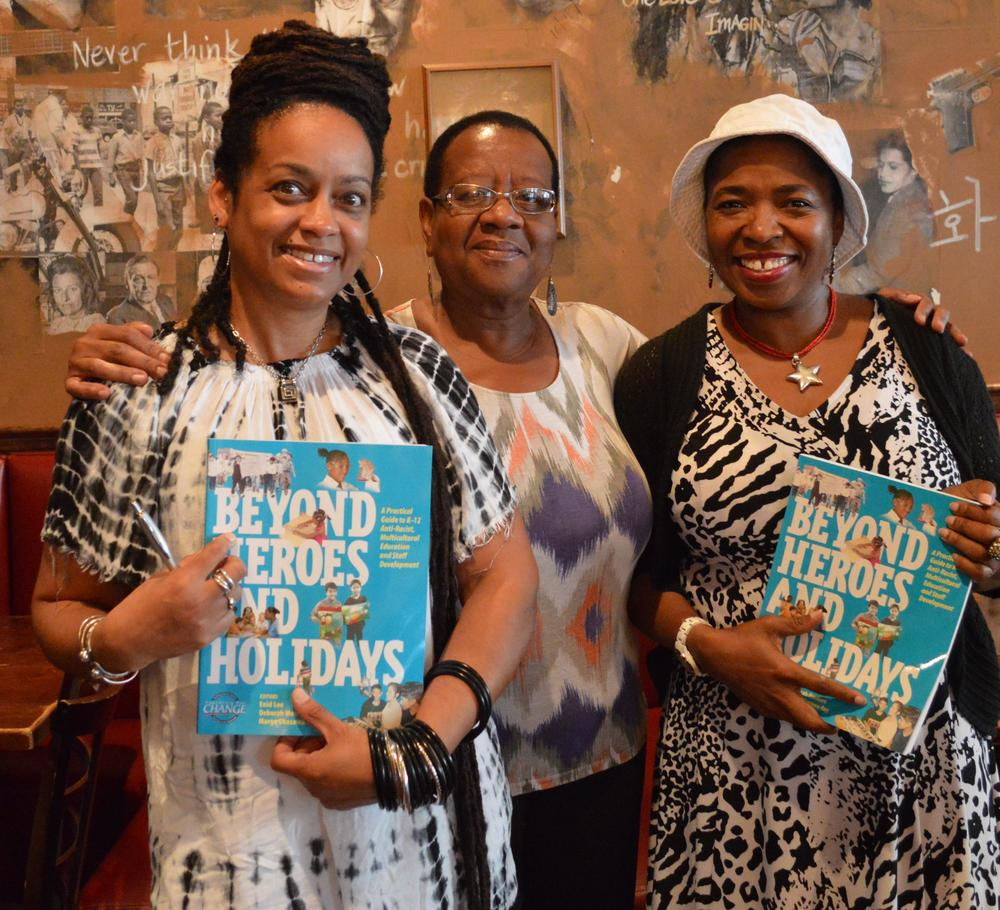 Click the image to see a full photo gallery from Enid lee's fellowship in d.c. This cover photo is at the presentation by enid lee for the Washington teachers' union at busboys and poets.