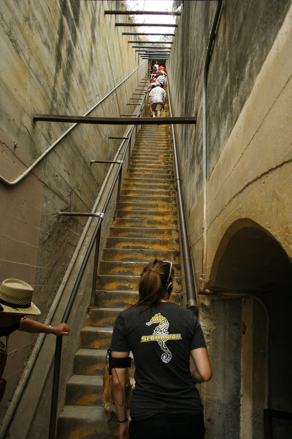 The last set of stairs we had to climb to get to the top of Diamond Head.