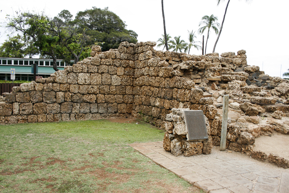 Before the Lahaina Prison was built the prisoners were held up here in an old coral fort.