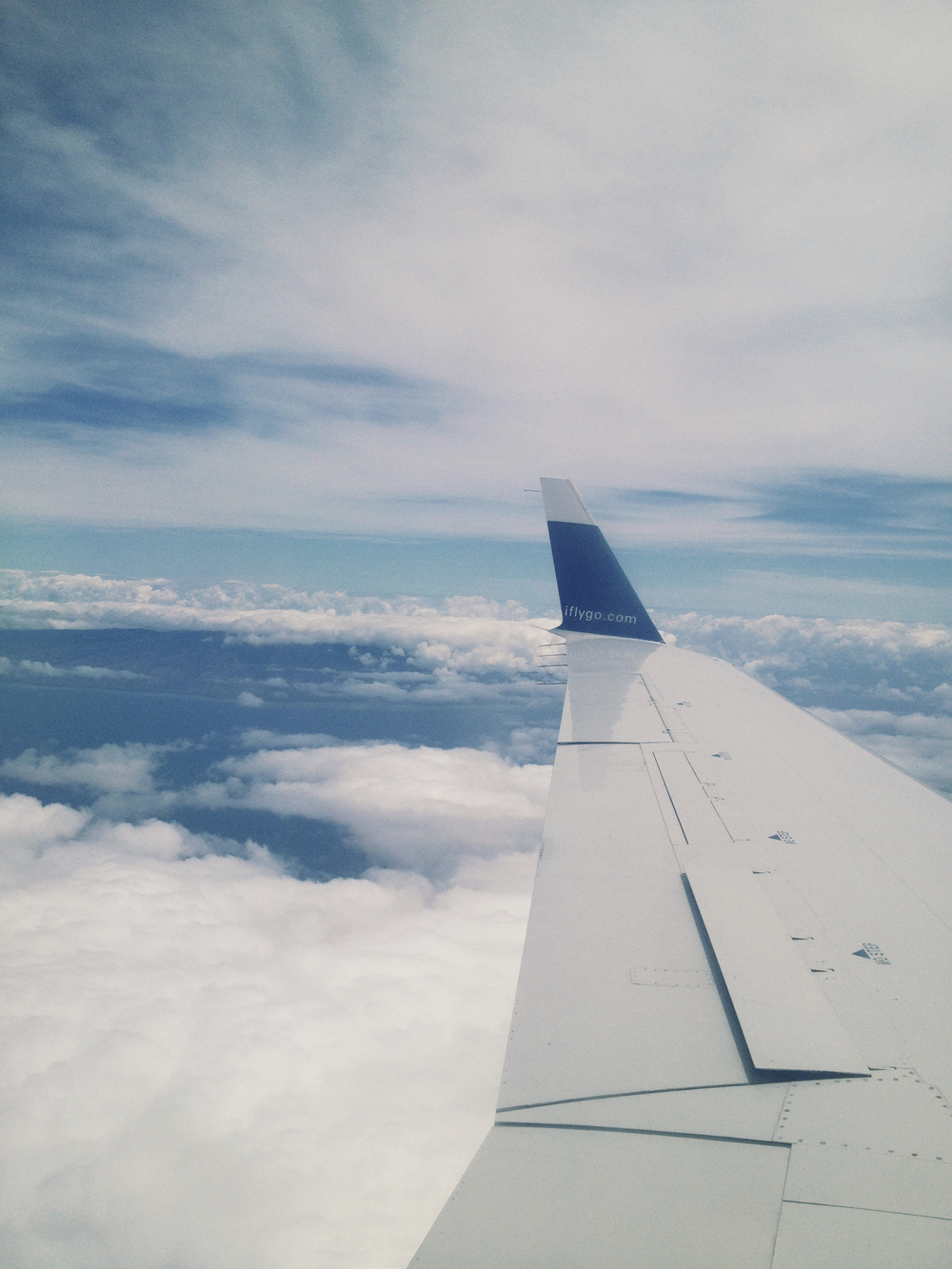 View on the plane