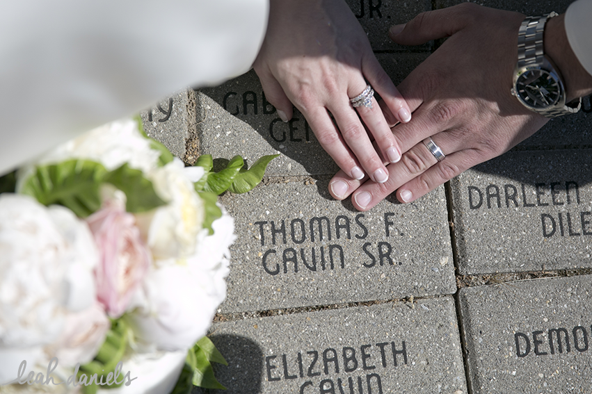 Maura's grandfather had a memorial brick printed with his name on it at St. Ann's Basilica in Scranton. So we headed over to visit before we left the church for bridal party photographs.