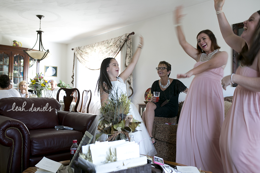 The Bridesmaids and Flower girl practicing their Whip and Nae Nae!