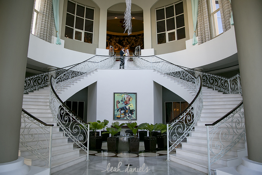 We made our way down to the grand stair case at the Iberostar Grand Rose Hall and captured some truly stunning images of them and their bridal party.