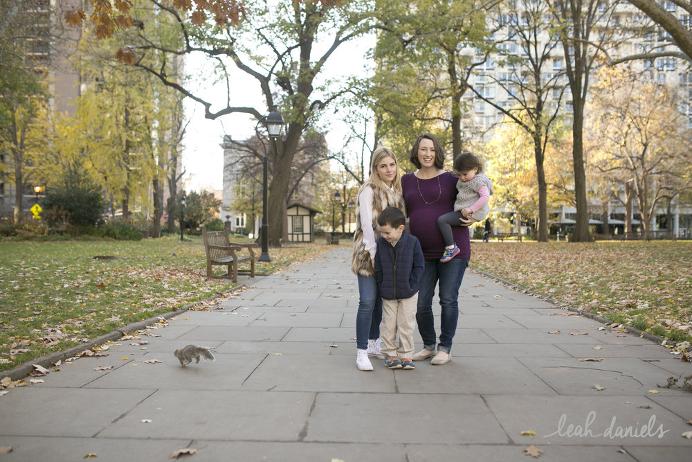 When a squad of squirrels decides that they want to invade your family session in  Washington Square Park  in Philadelphia you let it happen because... kids LOVE it!