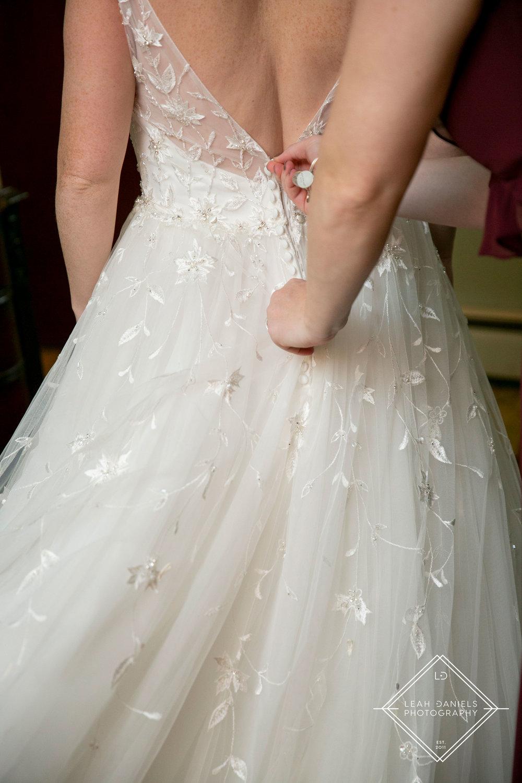 Scranton Wedding Photography - Dress Detail