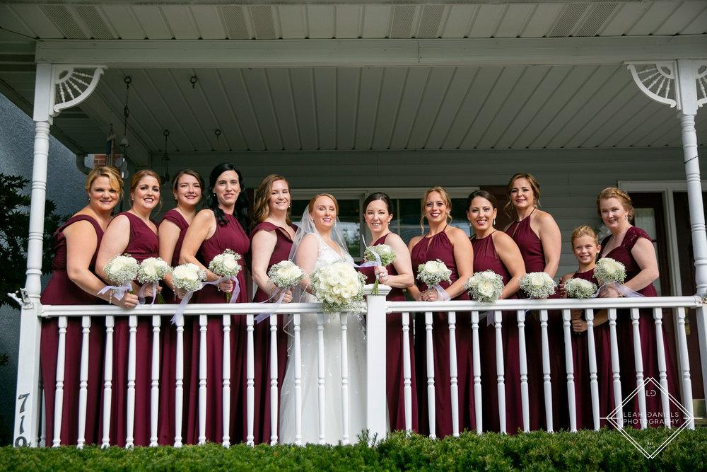 Scranton Wedding Photography - Maroon Bridesmaids