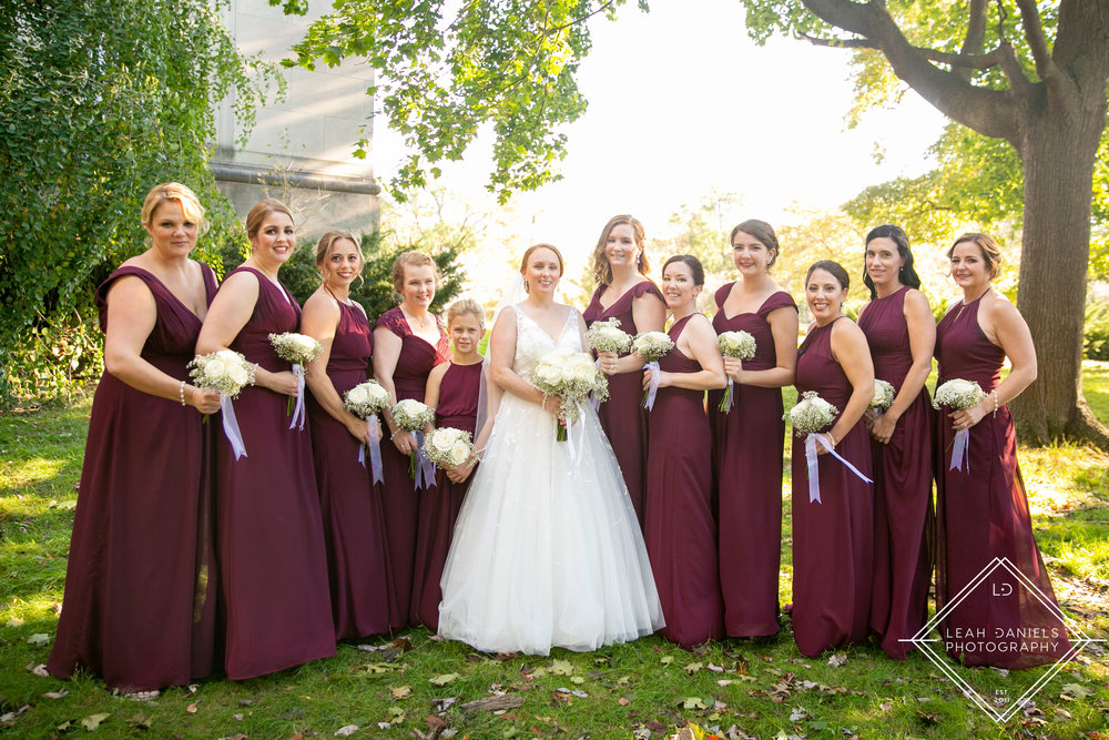 Scranton Wedding Photography - Nay Aug Park - Bridesmaids