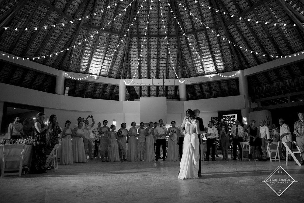 NOW Larimar Destination Wedding; The Bride and Groom first dance