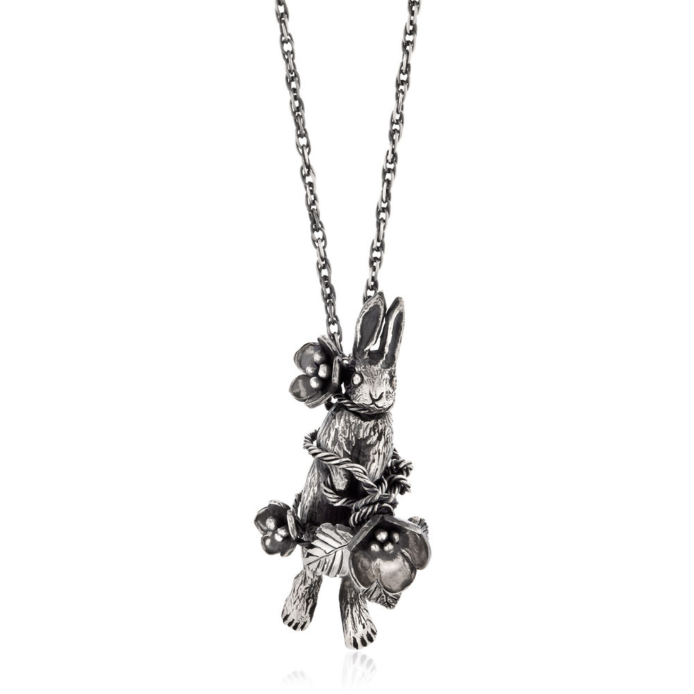 Momocreatura: Flower Rabbit Necklace | Jewelry > Necklaces -  Hiphunters Shop