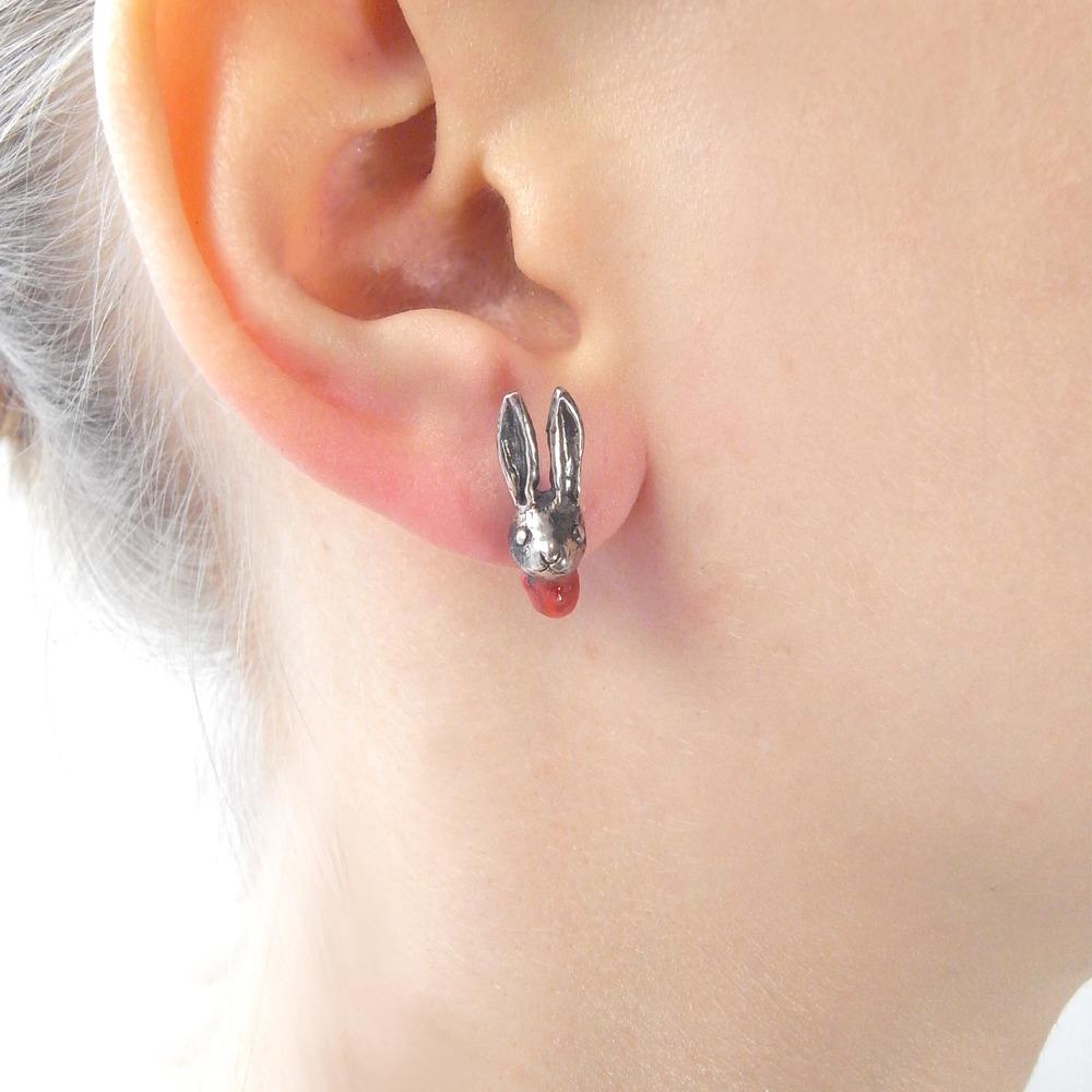 Momocreatura: Head Off Rabbit And Axe Earrings | Jewelry > Earrings -  Hiphunters Shop