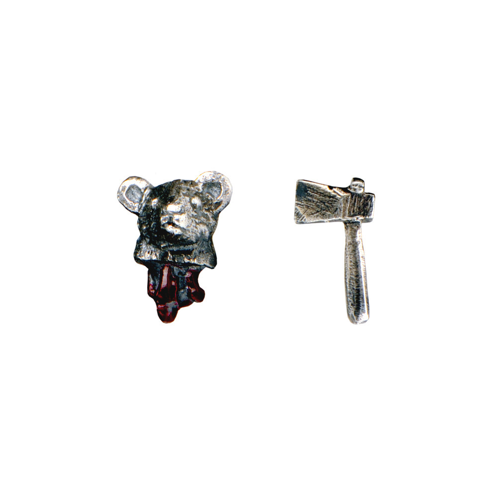 Head Off Mouse And Axe Earrings