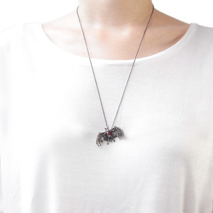 Momocreatura: Hole In Heart Bat Necklace | Jewelry > Necklaces -  Hiphunters Shop