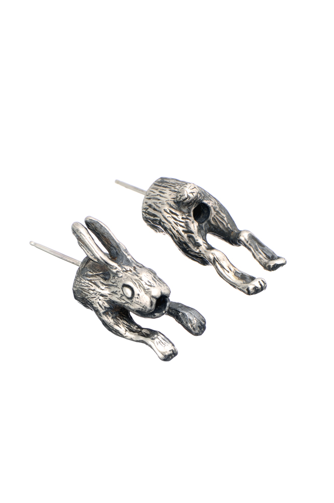 Momocreatura: In And Out Rabbit Earrings | Jewelry > Earrings -  Hiphunters Shop