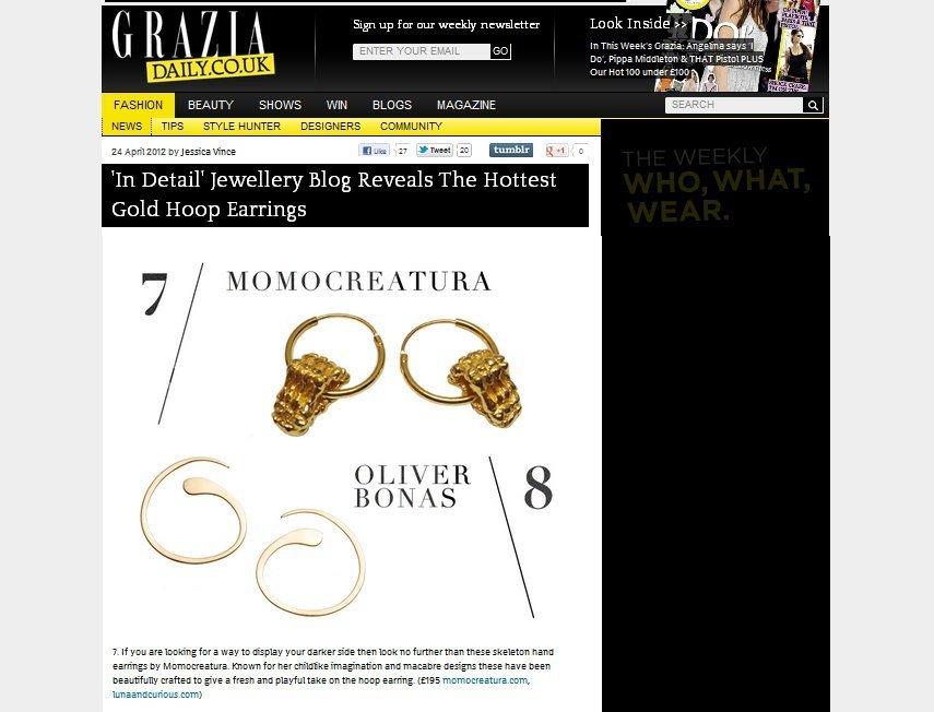 Momocreatura: Skeleton Hands Hoop Earrings Gold | Jewelry > Earrings -  Hiphunters Shop