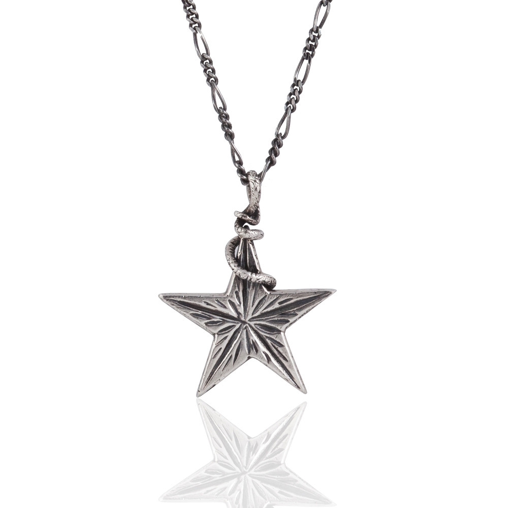 Momocreatura: Snake Catching A Star Pendant | Jewelry > Necklaces -  Hiphunters Shop