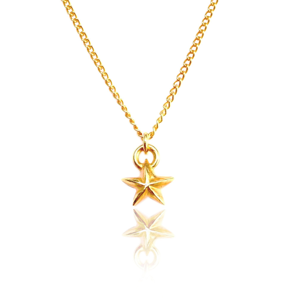 Tiny Star Necklace 22ct Gold Vermeil