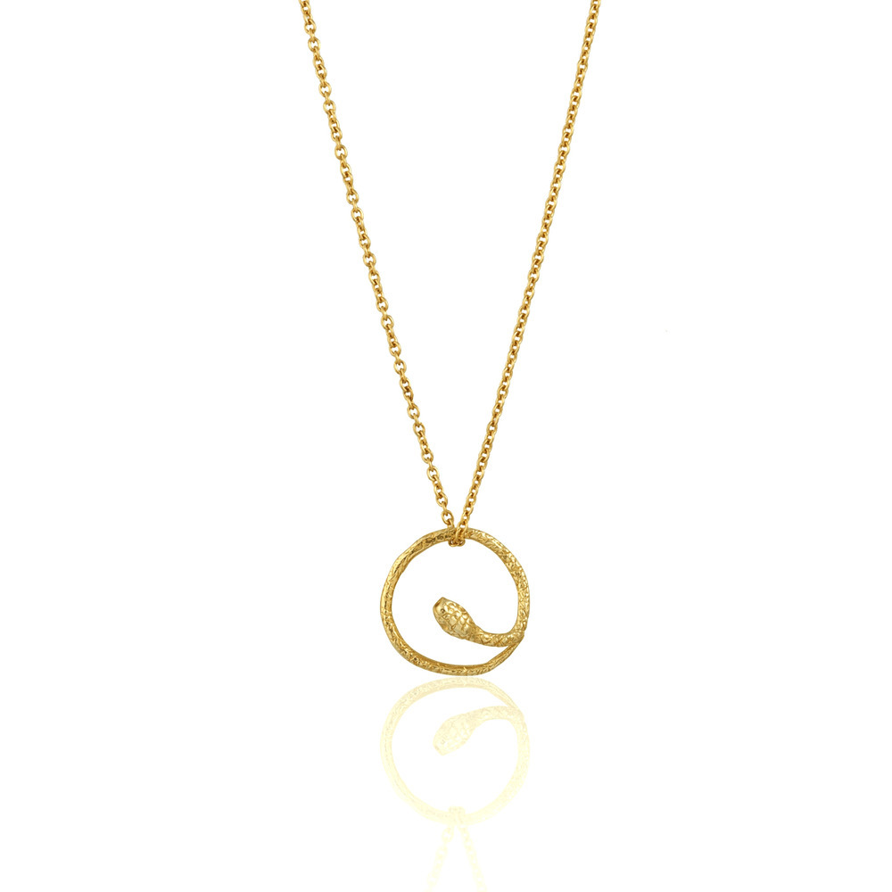 Momocreatura: Round Snake Necklace Gold | Jewelry > Necklaces -  Hiphunters Shop