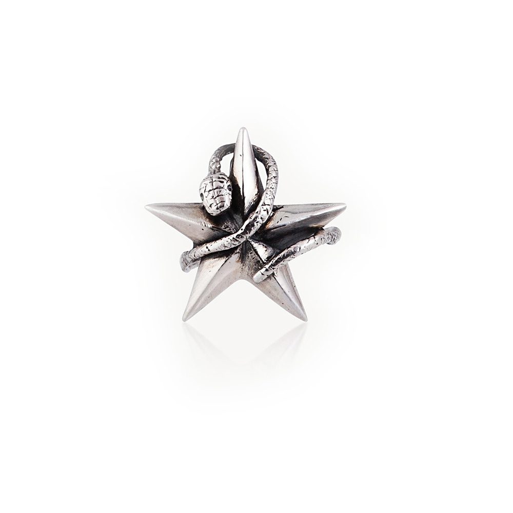Momocreatura: Snake Catching A Star Ring | Jewelry > Rings -  Hiphunters Shop