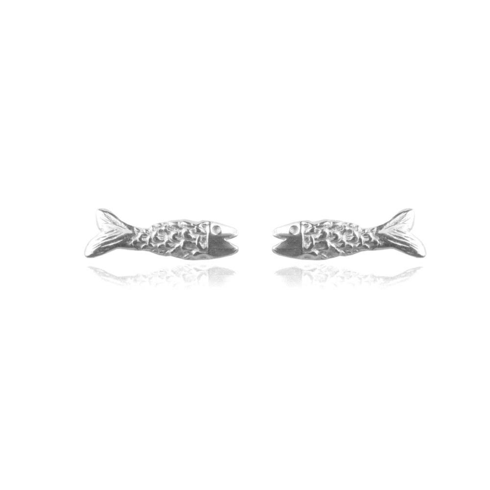 Momocreatura: Micro fish earrings silver | Jewelry > Earrings -  Hiphunters Shop