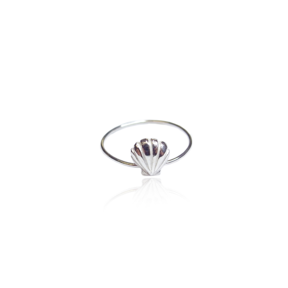 Momocreatura: Single shell ring silver | Jewelry > Rings -  Hiphunters Shop